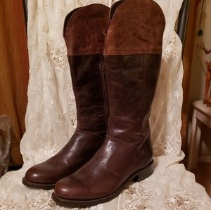 Stetson Chocolate Brown Leather Riding Boots sz 9